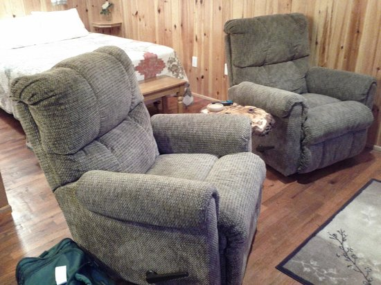 Yule Log Resort: Cabin 5 - cozy recliners