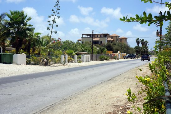 Windsock Apartments & Beach: The EEG Boulevard in front of the house, the Windsock beach is located on the left