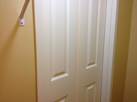 TownePlace Suites by Marriott Galveston Island: just a door in the closet that led to the bathroom? interesting enough to post.