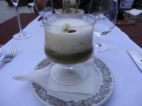 Vila Podvin: Wild onion soup with yoghurt foam