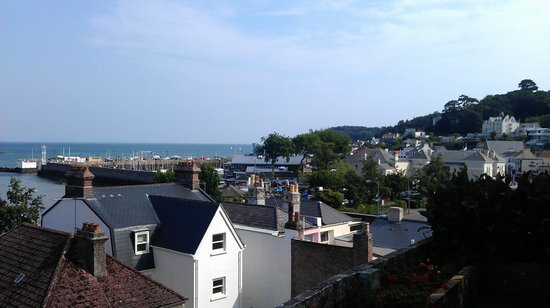 The Panorama: View of the harbour from the garden