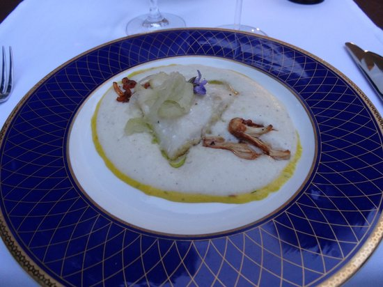Vila Podvin: John Dory with a saffron sauce and chanterelle mushrooms