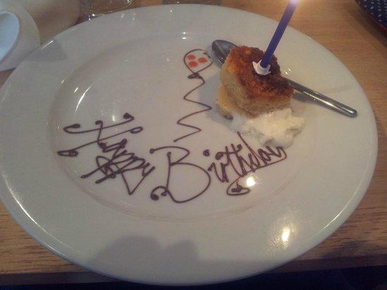 Purple Goose : White Chocolate Birthday Sponge!