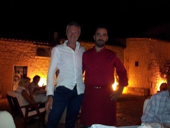 Don Eusebio: il sottoscritto con lo chef Michele