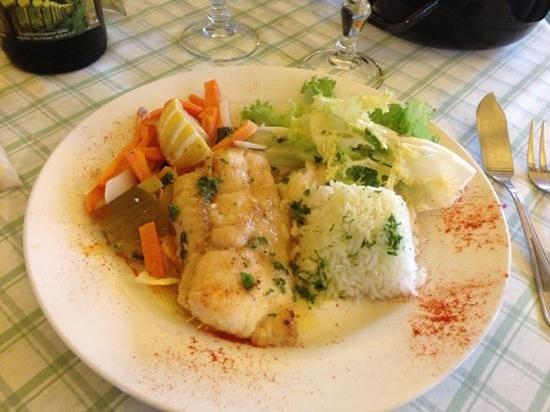 Le Manoir : filet de meunière avec ses petits légumes
