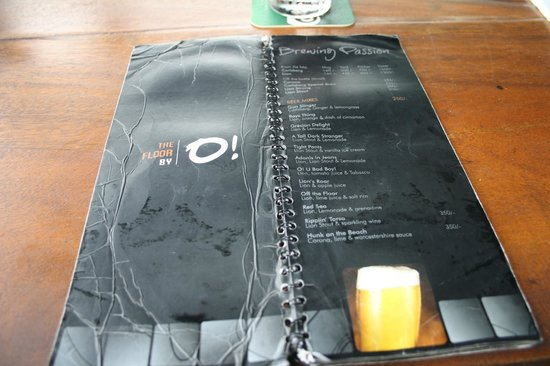 Menu picture of the floor by o colombo tripadvisor for Floor 6 reloaded menu