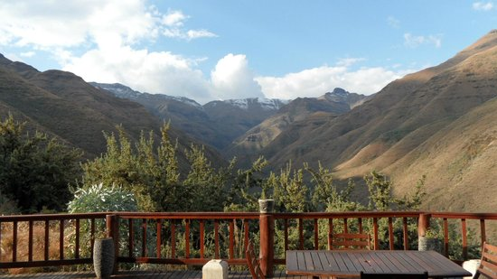 Maliba Mountain Lodge: View from room/ dining terrace