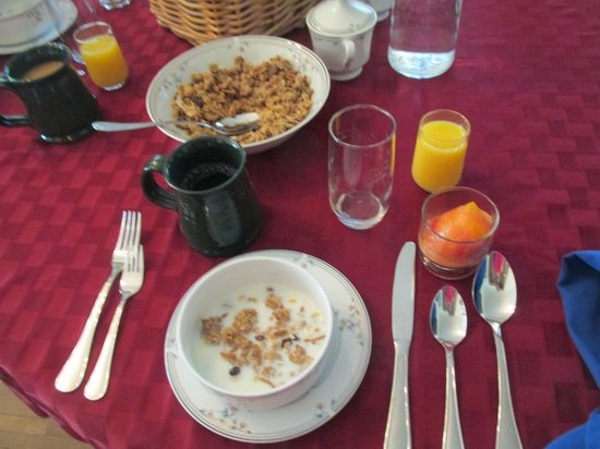 Deutsche Strasse Bed & Breakfast: Granola & frozen fruit compote