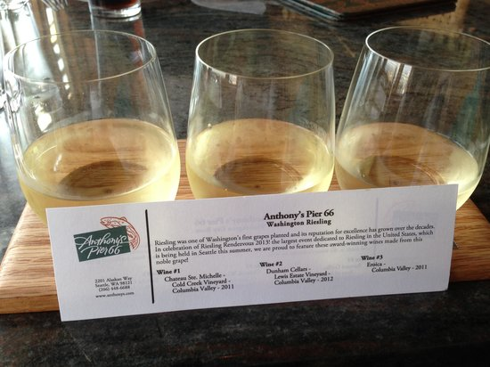 Riesling Wine Flight Picture Of Anthony S Pier 66 Amp Bell Street Diner Seattle Tripadvisor