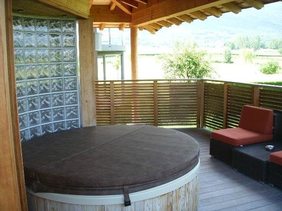 Jiva Hill Resort: Jacuzzi on porch