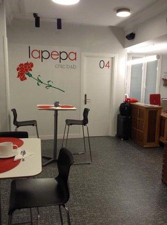 Lapepa Chic Bed & Breakfast : the reception area