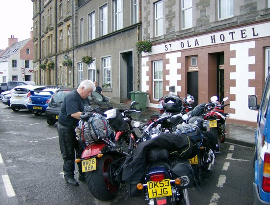 St. Ola Hotel: bikes parked up outside hotel