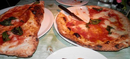 Marechiaro Pizza: Calzone and pizza