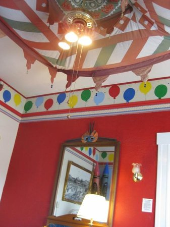 Red Victorian LLC: ceiling decor in the Playroom
