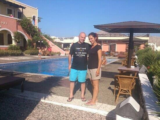 Abelonas Village: in the pool