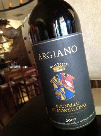 Taverna Fiorentina: award winning wine list