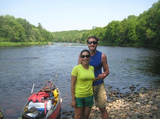 Flambeau River: My wife and I