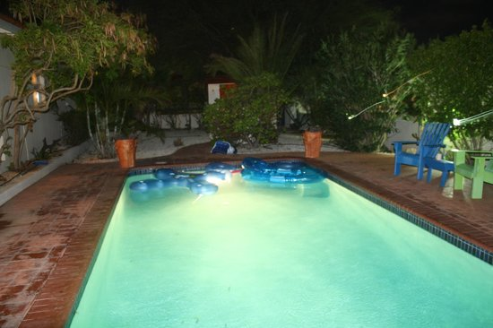 Villa Sol Palmas: Pool at night