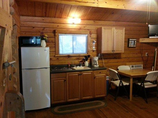 Yogi Bear's Jellystone Park Camp-Resort at Paradise Pines: Yogi cabin kitchen area