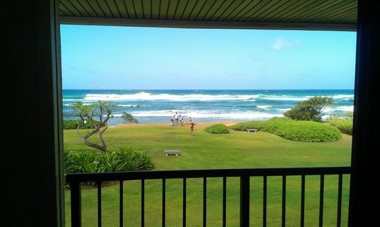 Kauai Beach Resort: this was the view from our ocean front room