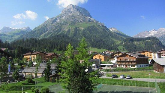 Hotel Arlberg Lech: View from our balcony