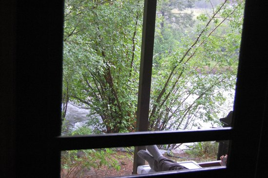 Glacier Lodge: View from the kitchen window