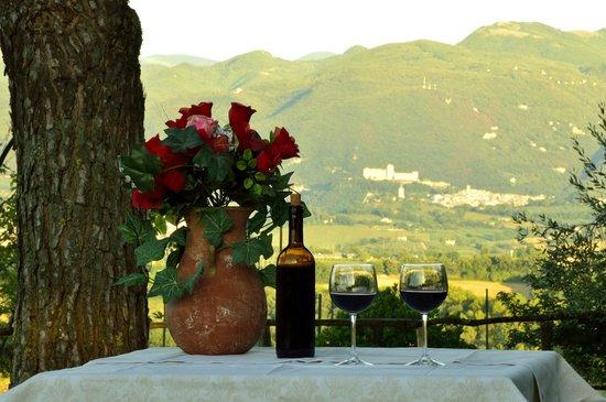 Agriturismo Rivoli: veduta Spoleto