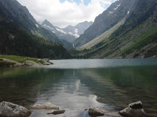 Pyrenees Motorcycle Tours: The lake at Le Pont D'Espagne.  Take the cable car and chair lift to the top, then a short walk