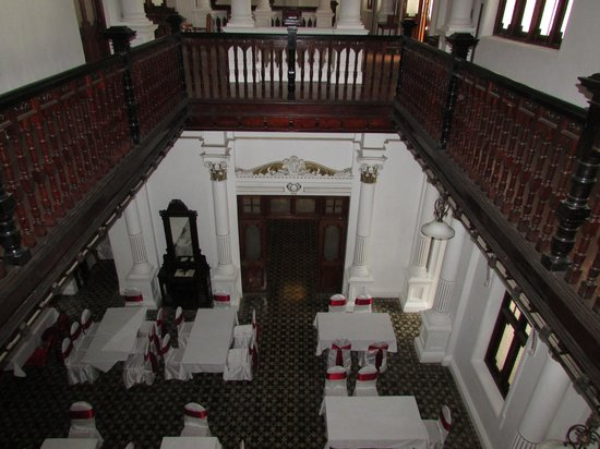The Mansion: Looking down on the dining room