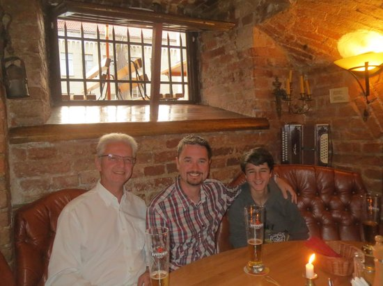 Stora Antis: dad, son and grandson all enjoying a special dinner