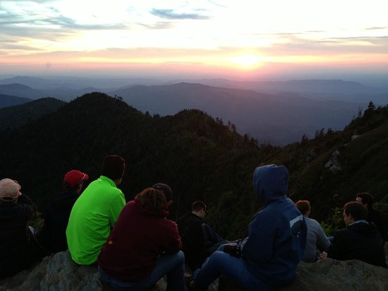 LeConte Lodge: Sunset on top of Mt. LeConte