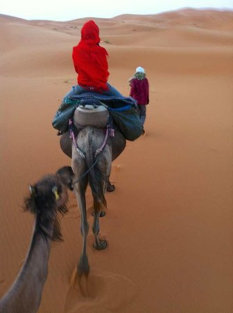 Kasbah Sable D'or: En route to the tents in the Erg Chebbi