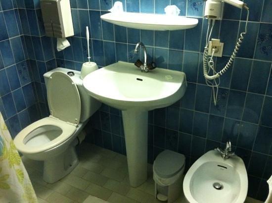 Hotel des Thermes : notez la petite touche de deco de la brosse des wc