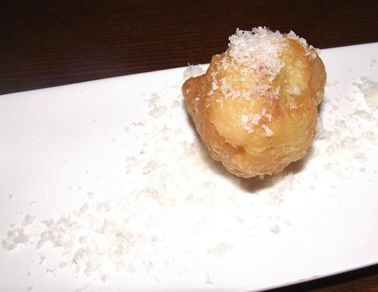 The Nest Bistro: Amuse bouche - parmesan-sprinkled doughnut hole...