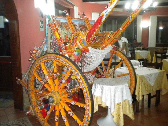 La Ruota: Fancy Sicilian Cart in the restaurant