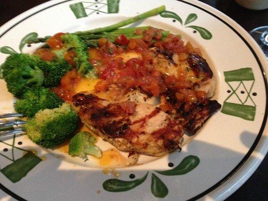 Olive Garden: poulet à l'abricot et légumes