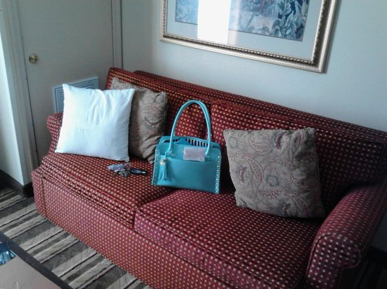 Homewood Suites by Hilton: In suite sofa