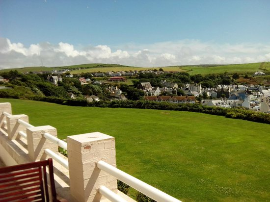 The Portpatrick Hotel: view to the town