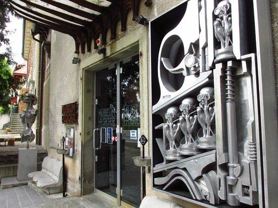 hr giger museum front door picture of hr giger museum gruyeres tripadvisor. Black Bedroom Furniture Sets. Home Design Ideas