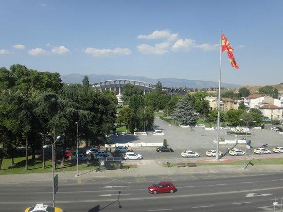 Hotel City Park: View from 4th floor bedroom window