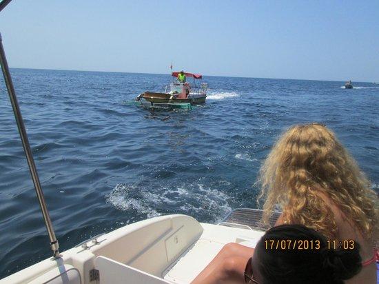 Hotel Cala Galdana & Villas d'Aljandar: Rubbish boat ensures beaches are clean