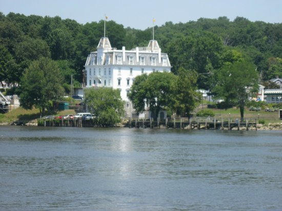 Essex Steam Train & Riverboat: Restored building on the banks of the river.