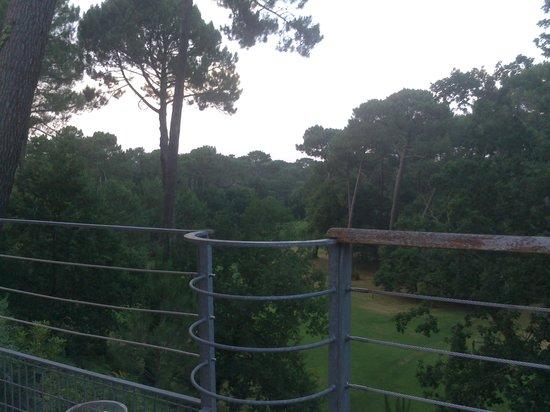 Le Parcours Gourmand: vue de la terrasse sur le green