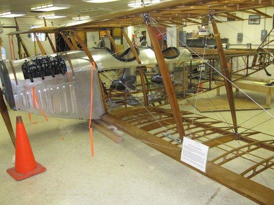 Niagara Aerospace Museum: Curtiss JN4 (Curtiss Canuck version) being restored