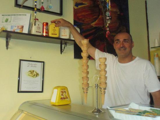 Gelateria Meloni : Manuel con l'Aloe Vera