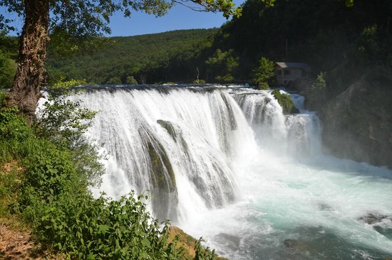 Bihac, Bosna Hersek: Clear water at Štrbački waterfalls