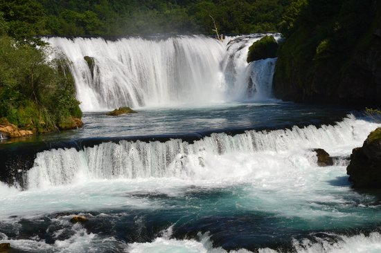 Bihac, Bosnia and Herzegovina: Beautiful overview of Štrbački waterfalls