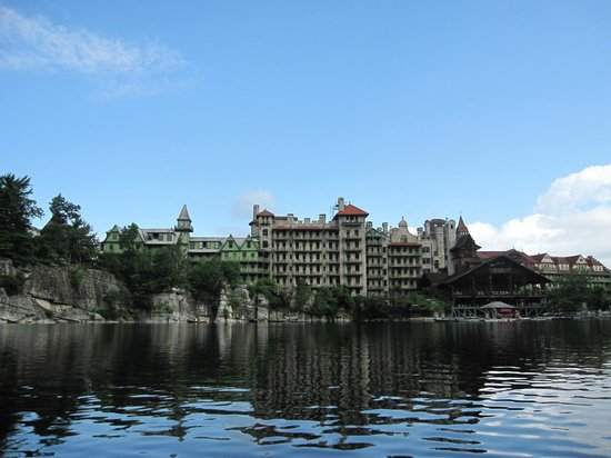 Mohonk Mountain House: View from our canoe