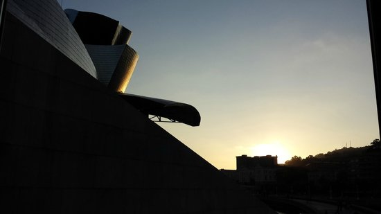 Nerua Guggenheim Bilbao : Blick aus dem Speisezimmer