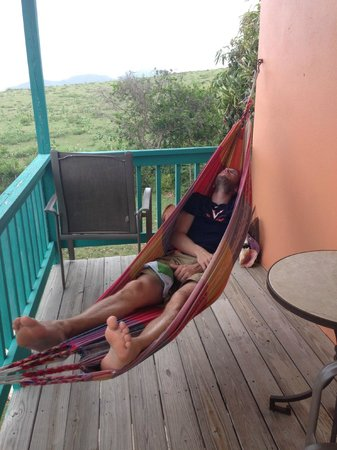 Hector's by the Sea: The relaxing hammock on the Mango room's porch